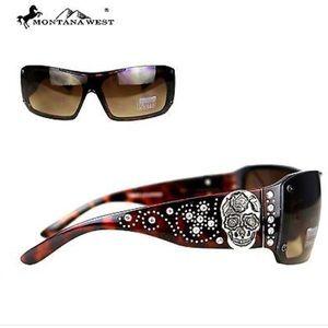 Montana West Sugar Skull Leopard Sunglasses
